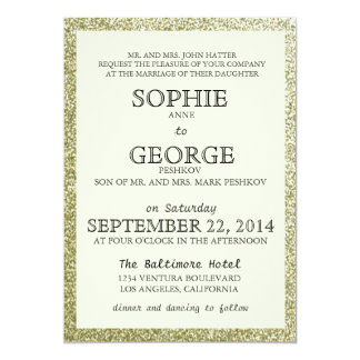 Elegant Glitter Framed Wedding Invitation