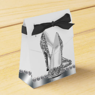 Elegant Glitter High Heel Shoe Favour Box