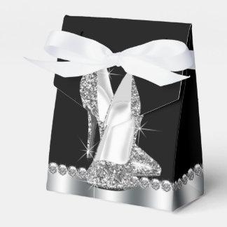 Elegant Glitter High Heel Shoe Favor Boxes