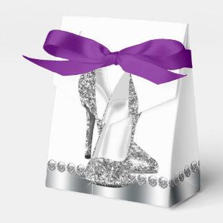 Elegant Glitter High Heel Shoe Wedding Favor Boxes