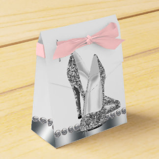 Elegant Glitter High Heel Shoe Party Favor Boxes