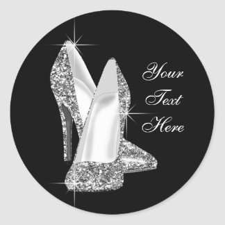Elegant Glitter High Heel Shoe Stickers