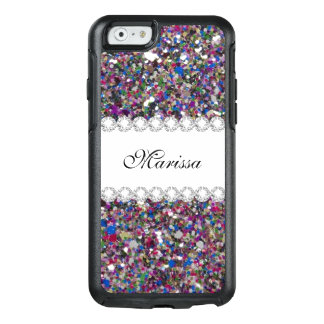 Elegant Glitter Pink Purple Blue White Sparkles OtterBox iPhone 6/6s Case