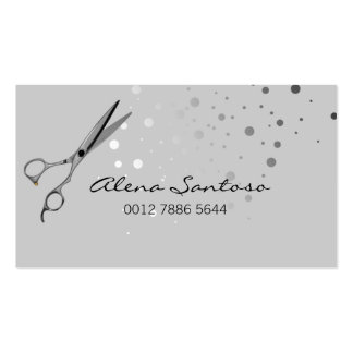 Elegant Glitter Scissor Double-Sided Standard Business Cards (Pack Of 100)
