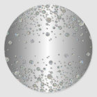 Elegant glitter silver dots Sticker