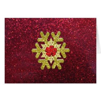 Elegant Glitter Snowflake Greeting Card