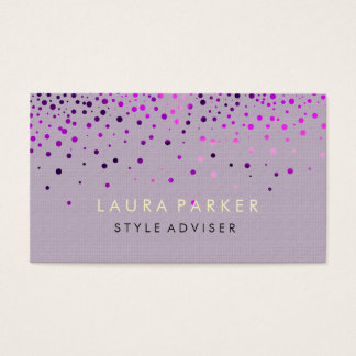 Elegant Glitter Subtle Cream Faux Background Business Card