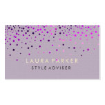 Elegant Glitter Subtle Cream Faux Background Pack Of Standard Business Cards