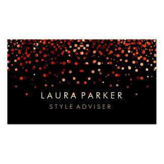 Elegant Glitter Subtle Red Faux Background Pack Of Standard Business Cards