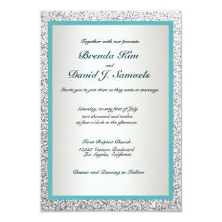 Elegant Glitter Wedding Invitation