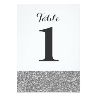 Elegant Glitter Wedding Table Number Cards