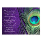 Elegant Glittery Purple Peacock Wedding Card