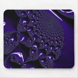 Elegant Glossy  Lavender Fractal Mouse Mat