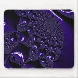 Elegant Glossy  Lavender Fractal Mouse Pad