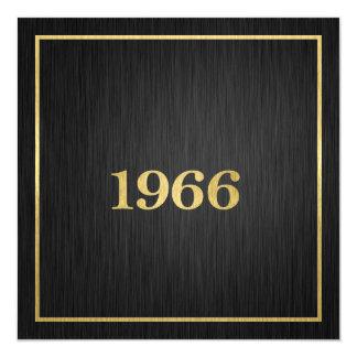Elegant Gold 1966 13 Cm X 13 Cm Square Invitation Card