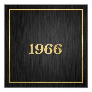 Elegant Gold 1966 Invites