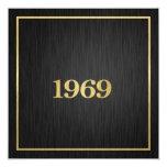 Elegant Gold 1969 5.25x5.25 Square Paper Invitation Card