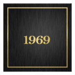 Elegant Gold 1969 Personalized Invitation