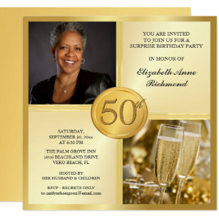 Women 50th Birthday Invitations Announcements