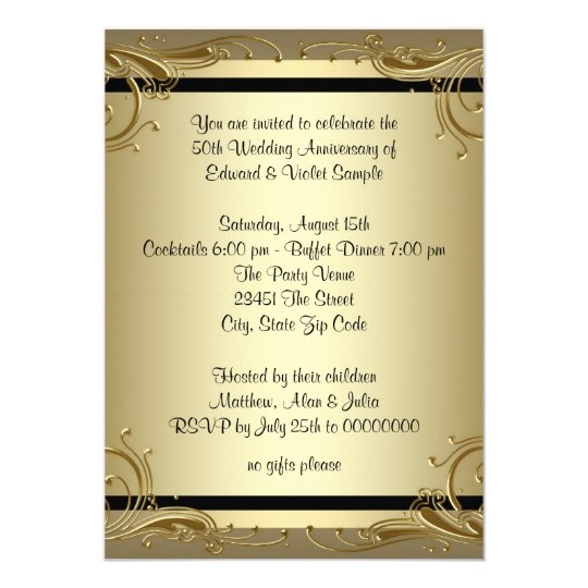 50th anniversary party invitations yeniscale 50th anniversary party invitations stopboris Gallery
