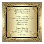 Elegant Gold 50th Wedding Anniversary Party Custom Announcements