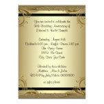 Elegant Gold 50th Wedding Anniversary Party Personalised Invitation