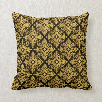 Elegant Gold and Black Diadem Design Cushion