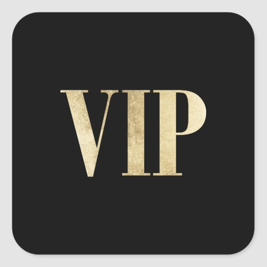 Elegant gold and black VIP very important person