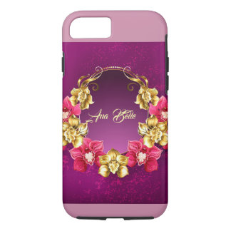 Elegant Gold And Pink Orchids iPhone 8/7 Case