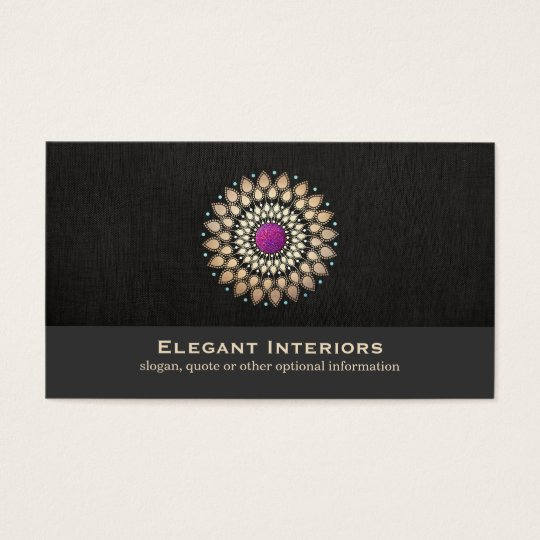 Elegant Gold and Purple Motif Interior Designer Business