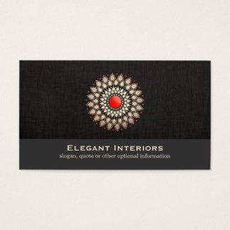 Elegant Gold and Red Motif Interior Designer Chic