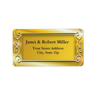 Elegant Gold Background Address Labels