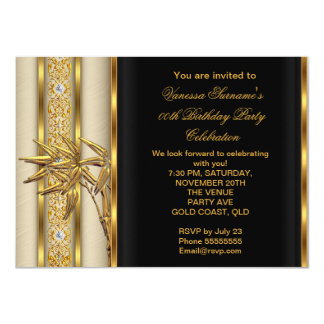 Elegant Gold Black Asian Bamboo Caramel Beige 2 11 Cm X 16 Cm Invitation Card