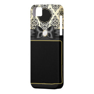 Elegant Gold & Black Bow iPhone 5 Case