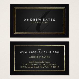 Elegant gold black professional modern monogram