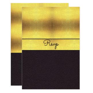 Elegant Gold & Black RSVP Card