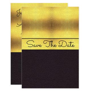 Elegant Gold & Black Save The Date Card