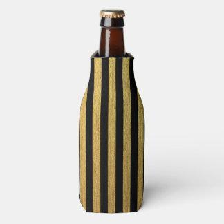 Elegant gold black striped pattern