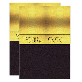 Elegant Gold & Black Table Number Card