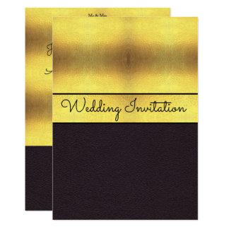 Elegant Gold & Black Wedding Card
