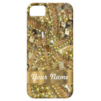 Elegant gold bling barely there iPhone 5 case