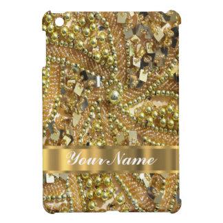 Elegant gold bling iPad mini covers