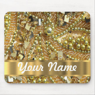 Elegant gold bling mouse mat