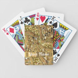 Elegant gold bling poker deck