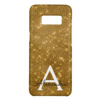Elegant Gold  Bling Sparkle Monogram Name Case-Mate Samsung Galaxy S8 Case