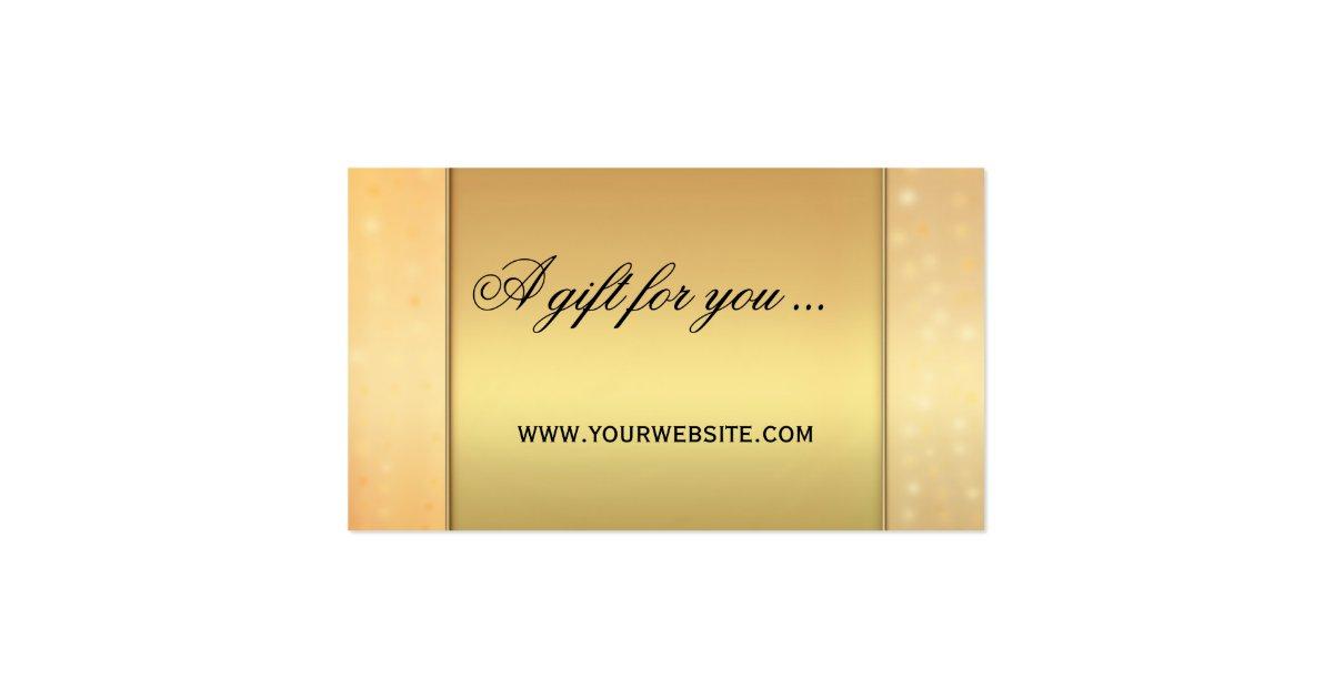 Elegant Marriage Certificate Template Golden Edition: Elegant Gold Bokeh Gift Certificate Template Pack Of