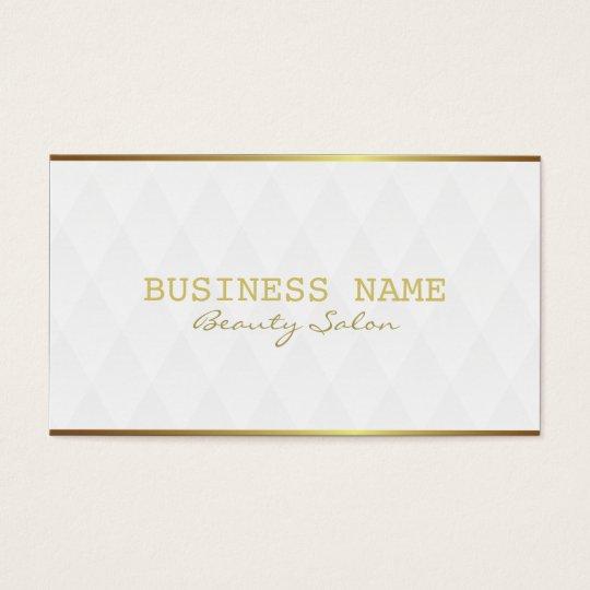 Elegant Gold Border Makeup Artist Business Cards