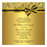 Elegant Gold Bow 50th Anniversary Party Personalized Invitation