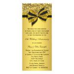 Elegant Gold Bow 50th Anniversary Party Custom Invite