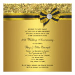 Elegant Gold Bow 50th Anniversary Party Announcement